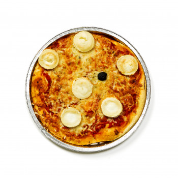 Pizza assiette au chèvre